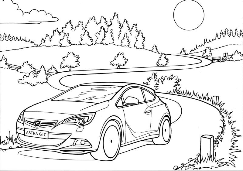 Opel omalovánky 3