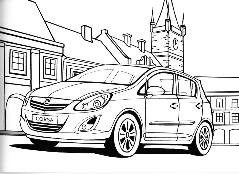 opel astra g dimensions sketch coloring page