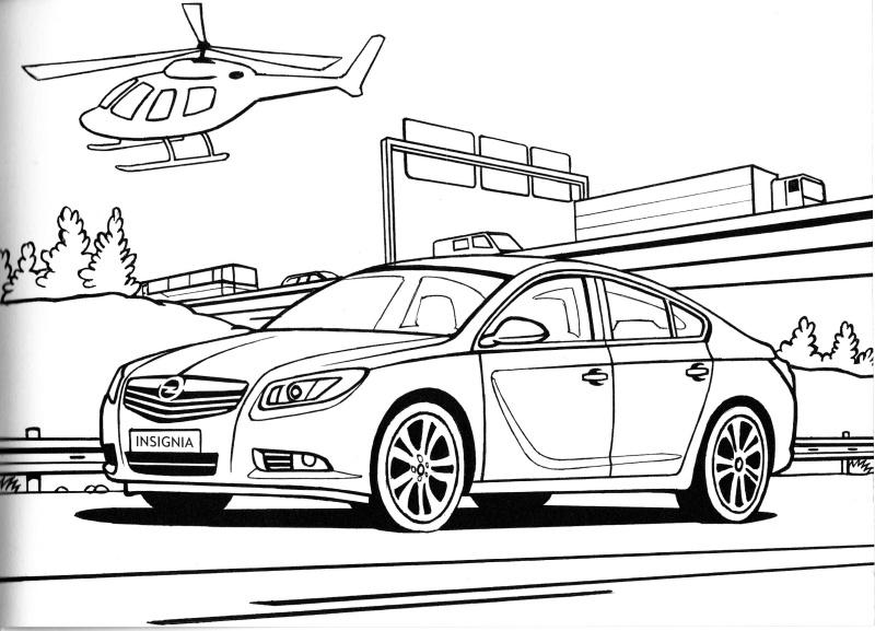 Opel omalovánky 11