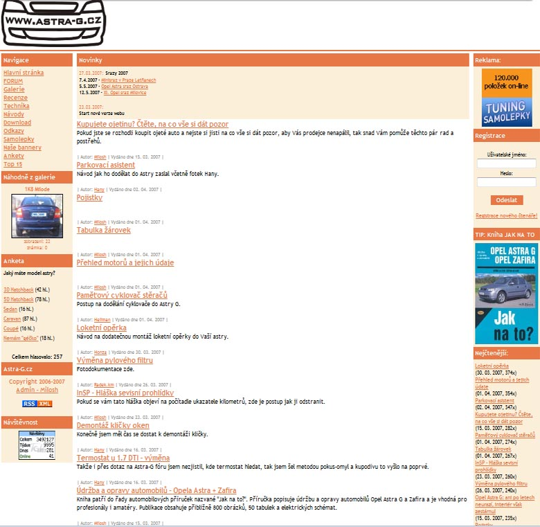 Opel Astra G web