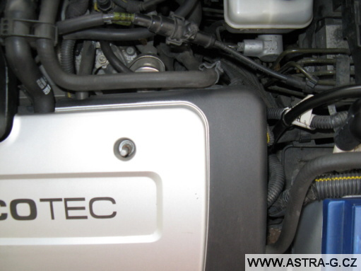 Umístění EGR ventilu v motoru