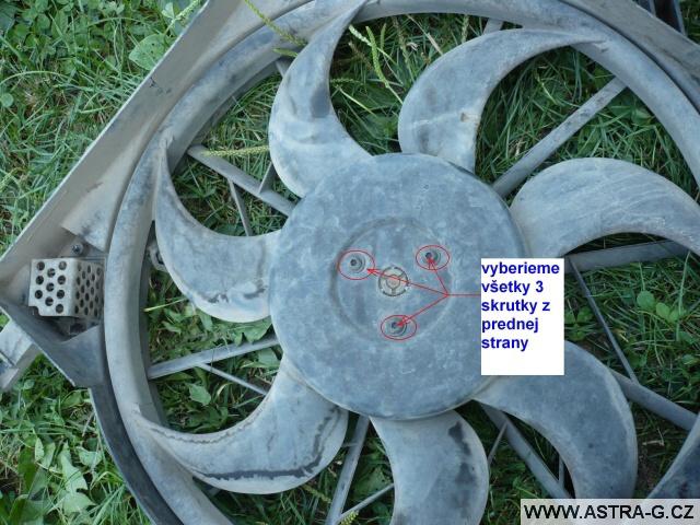 Oprava ventilátoru chladiče
