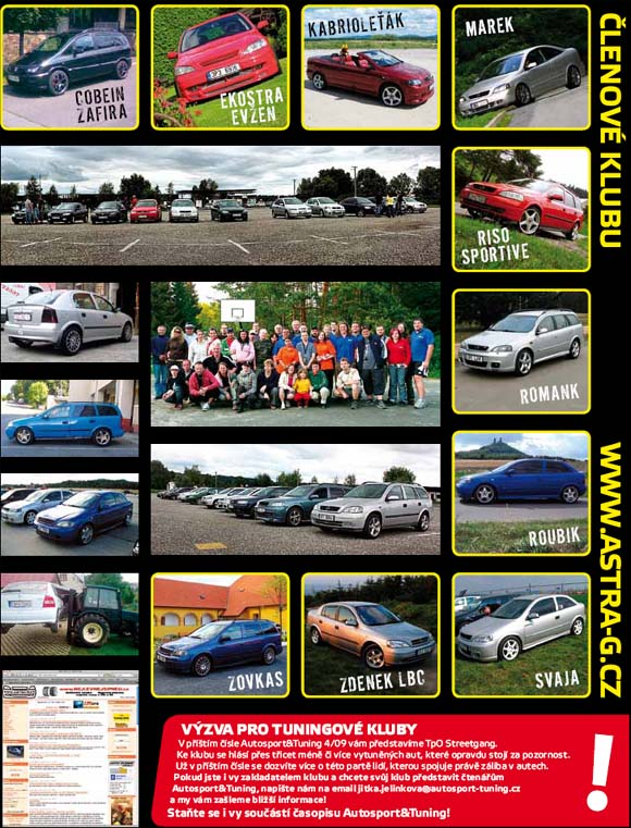 Astra G klub v časopise Autosport Tuning