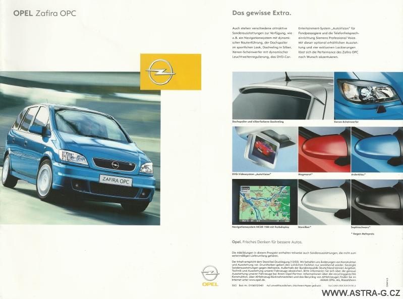 Opel Zafira OPC katalog 1