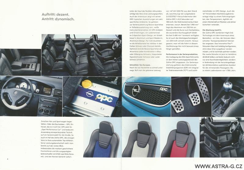 Opel Zafira OPC katalog 4