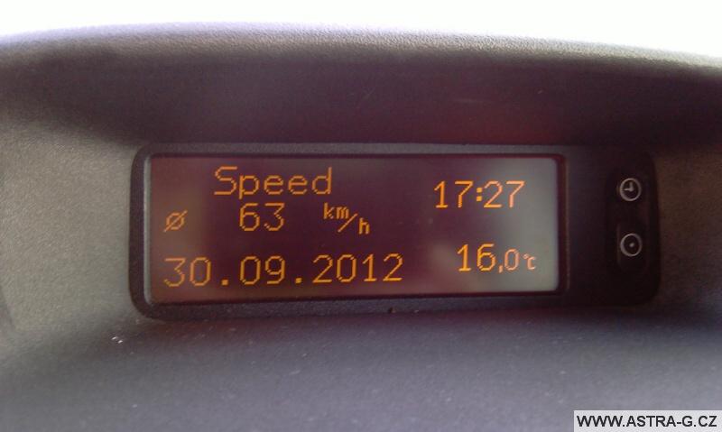 Opel Astra G automat spotřeba