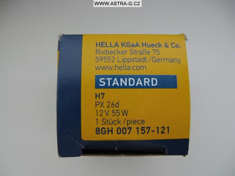 Žárovka H7 Hella