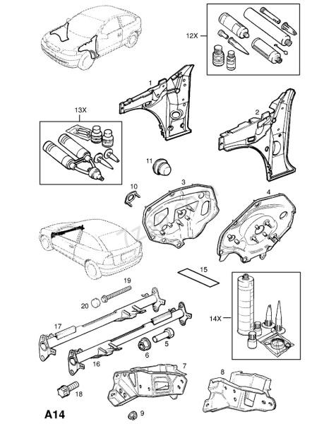 Katalog náhradních dílů Opel Astra G - Zafira A - 3