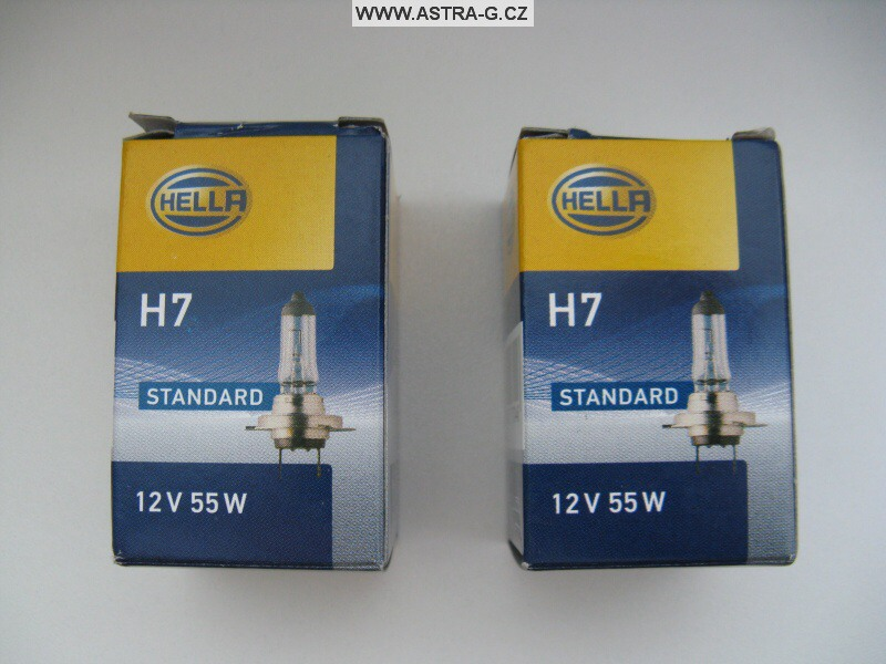 Žárovky H7 Hella