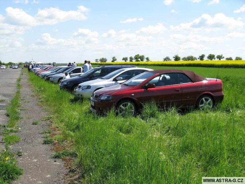 XIII.Opel Astra sraz – letiště Střemy u Mělníka 10.5.2008