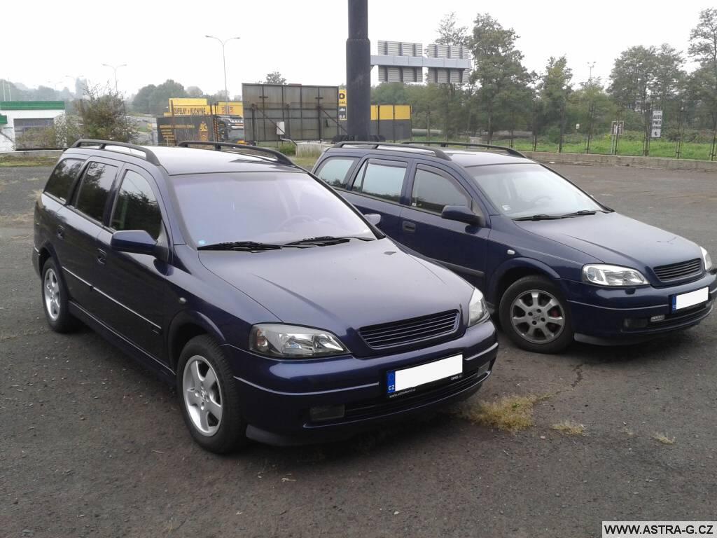 Opel Astra G caravan s metalízou a bez metly