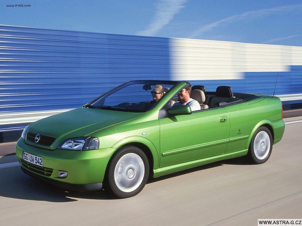 Opel Astra G cabrio green