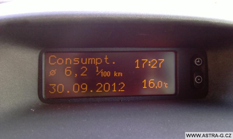 Opel Astra G 1.6 16V spotřeba
