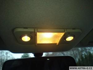 stropní světlo s lampičkami