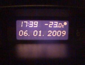 teplota v astře - Velký Šenov