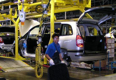 Výroba modelu Opel Zafira